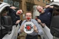 BT staff get 'red-y' for Comic Relief capers