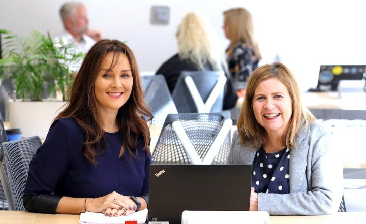 Aisling Press, Head of Branch Banking at Danske Bank and Elaine Smyth, Director of Innovation Community at Catalyst.
